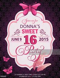 sweet 16 birthday party invitation vector art getty images