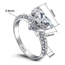 jewelry diamonds rings images S925 sterling silver jewelry heart ring cz diamond wedding jpg