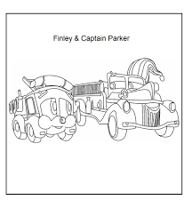 fire station coloring page