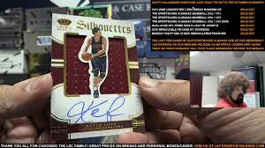 halloween take out boxes monday night nba tip off 20 box immaculate treasures basketball