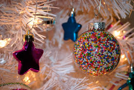 that flour child land tree diy sprinkle ornaments