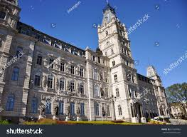 quebec parliament second empire architectural style stock photo