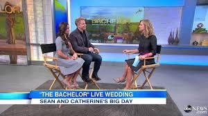 bachelor u0027 sean and catherine share wedding details youtube