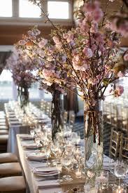 delicate cherry blossom wedding flowers
