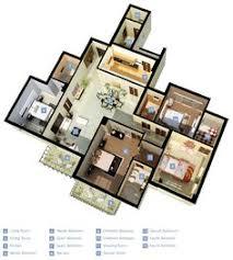 Modern Home Floor Plans Designs Project 12 U2013 3d Floor Plan Design For Modern Home View Client