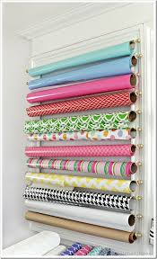 Organize Gift Wrap - hidden chic add pattern u0026 color where you least expect it in my