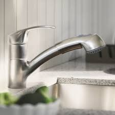 grohe alira kitchen faucet alira single handle pull out kitchen faucet touch on kitchen