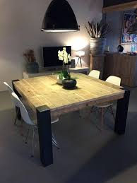 table cuisine bois brut table cuisine bois brut table carrace avec pieds en mactal brut