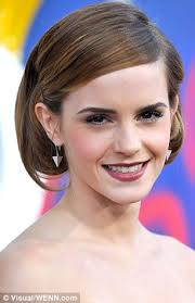 how to grow short hair into a bob emma watson continues her hair transformation with a plaited look