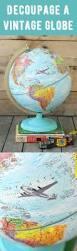 world globe home decor decoupaged chalky vintage globe vintage globe globe and learning