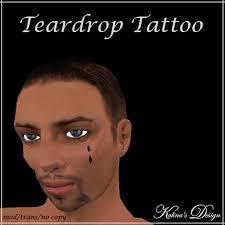 second life marketplace kalina u0027s design tear drop tattoo