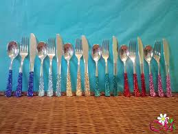plastic silverware plastic silverware fork knife spoon set silver decorated with