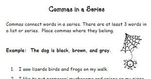 smiling and shining in second grade commas in a series