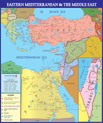 Modern Middle East Map by The Haitian Blogger Primed To Vanquish