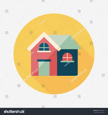 House Flat Design Building House Flat Icon Long Shadoweps10 Stock Vector 244724929
