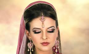 asian pakistani indian arabic bridal makeup pink and gold