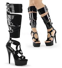 pleaser delight 600 43 black patent strappy gladiator style cutout