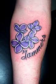 lilac flowers in tattoos by erika by live fast die young tats