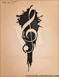 treble clef tattoo by hassified on deviantart