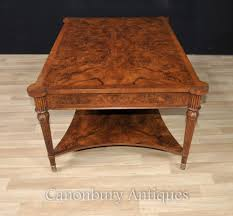 regency walnut coffee table partners tables english furniture ebay