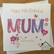 personalised 60th birthday card mum nan gran grandma any age name