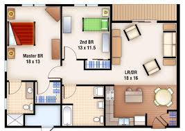 house plans with open floor plan 2 bedroom concept one story minim