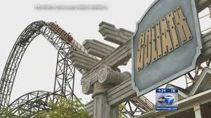 Goliath At Six Flags Record Breaking Wooden Coaster Goliath Opens At Six Flags On