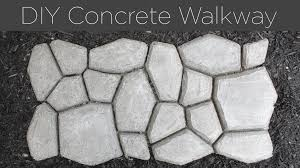 How To Install A Concrete Patio Diy Concrete Walkway Youtube