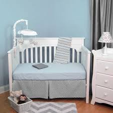 Zig Zag Crib Bedding Set Abc Blue Grey Zig Zag Chevron 4 Baby Crib Bedding Set Baby
