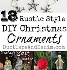 18 rustic style diy ornaments