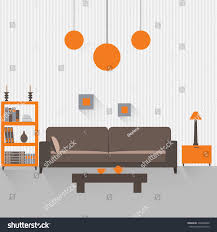 home interior interior design living room stock vector 230496286