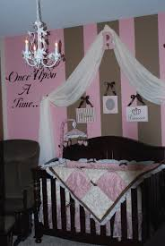 Pink Curtains For Nursery by Baby Nursery Delightful Baby Room With Stripped Pink Wall