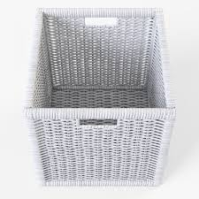 wicker rattan basket 07 white 3d model cgtrader