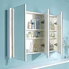 3 Door Mirrored Bathroom Cabinet Mirror Door Bathroom Cabinet Northlight Co
