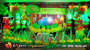 jungle theme decorations best jungle theme balloon decorations hotel aroma chandigarh