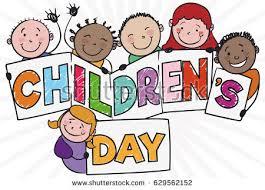 banner doodle style happy children celebrating stock vector