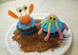 Ocean Cake Decorations Simple Sea Animals Beach Party Cupcakes Youtube