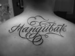 lettering back tattoo designs page 8