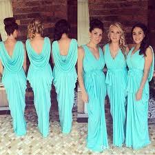 cheap teal bridesmaid dresses cheap glowing teal turquoise bridesmaid dresses 2016 v neck draped