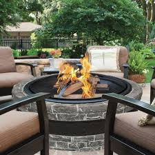 Firepit Wood Outdoor Fireplace Pit Patio Wood Burning Bowl Backyard