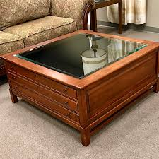 bob timberlake glass top coffee table bob timberlake solid cherry collectors cocktail table consign to