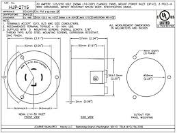 journeyman pro 2715 nema l14 30 flanged inlet generator plug 30a