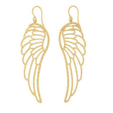 wing earrings large angel wing earrings gold phoebe coleman