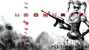ps4 themes harley quinn ps3 themes harleen quinnzel
