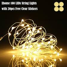 waterproof christmas light connections amazon com ehome 100 led 33ft 10m starry fairy string light