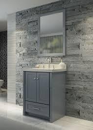ariel single 25 inch transitional bathroom vanity set grey