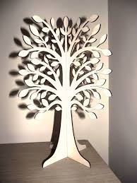exclusive laser cut wooden tree