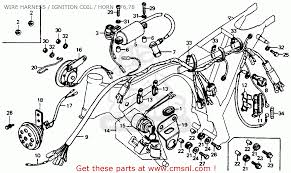 honda cb125s 1978 usa wire harness ignition coil horn 76 78