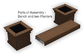 Deck Planters And Benches - composite deck contractor in ma azek bench planter