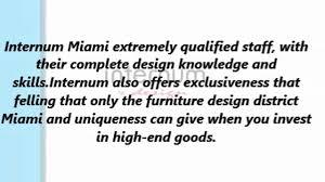 Home Goods Miami Design District by Internum Furniture Design District Miami On Vimeo